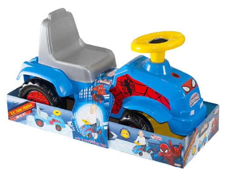 dede 03357 spiderman cavalcabile trattore