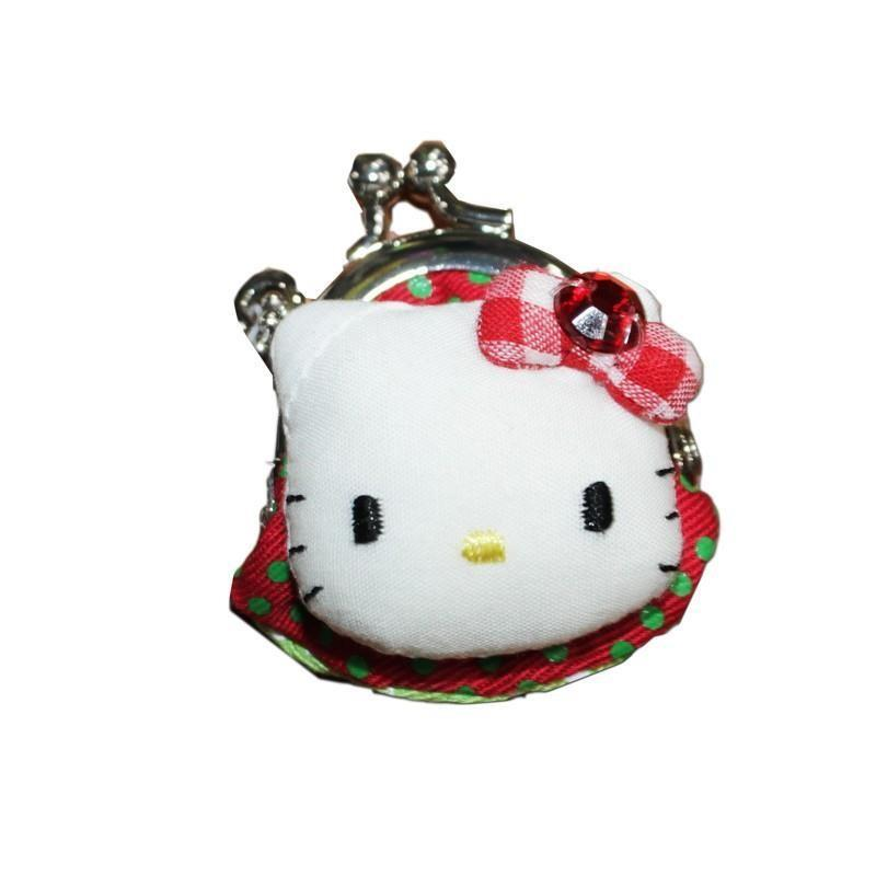 samrio 04577 hello kitty mini borsellino pois verde/rosso
