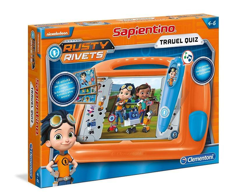 clementoni 16110 rusty rivets sapientino travel quiz