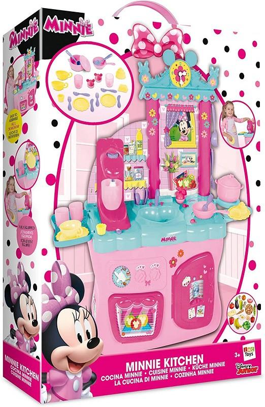 imc toys 181694 cucina minnie con 40 accessori