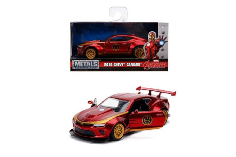 simba 253222003 iron man marvel auto chevy camaro ss 1:32