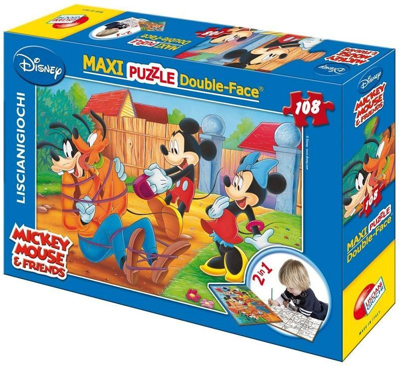 lisciani 31740 mickey mouse puzzle 108pz maxi doube face