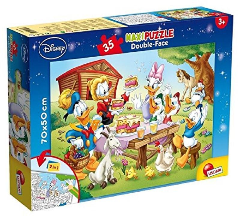 lisciani 48199 mickey mouse puzzle 35pz maxi double-face