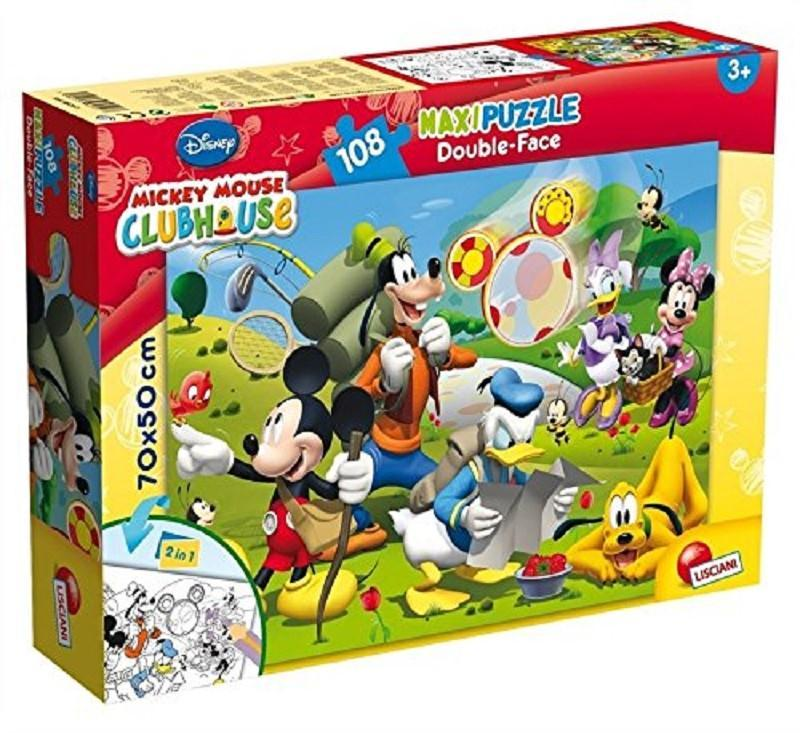 lisciani 48267 mickey mouse puzzle 108pz double face