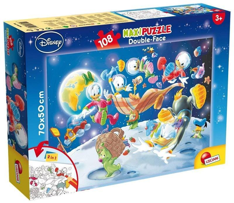 lisciani 48298 mickey mouse puzzle double face 108pz maxi