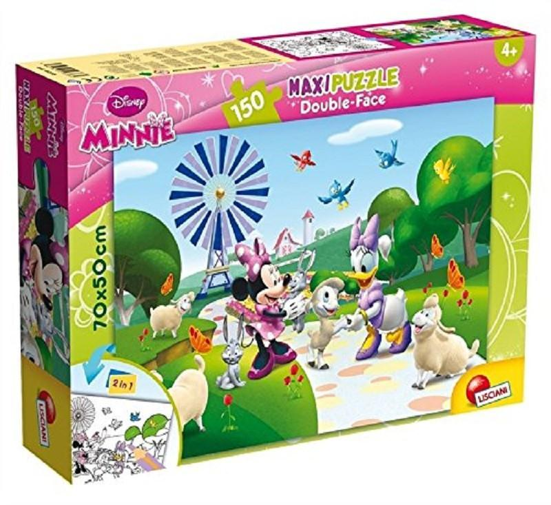 lisciani 48335 minnie puzzle double face 150pz maxi