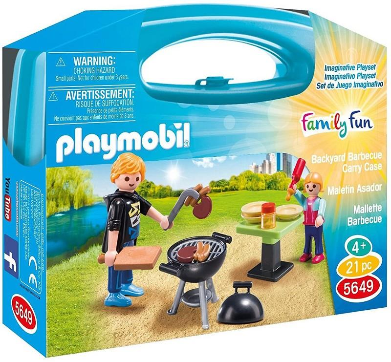 playmobil family fun 5649 valigetta barbecue
