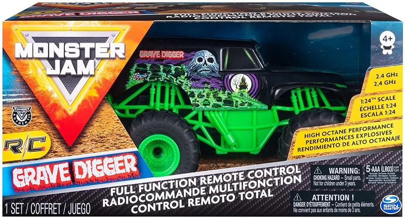 spin master 6044955 monster jam grave digger auto rc 1:24