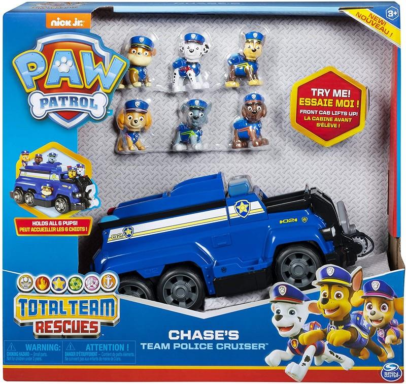 spin master 6052956 paw patrol total team police cruiser chase