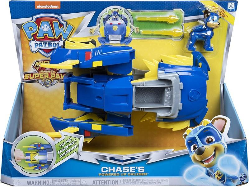 spin master 6053687 paw patrol might pups chase veicolo trasformabile