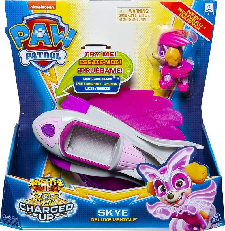 paw patrol pers. + veicoli charged up assortiti