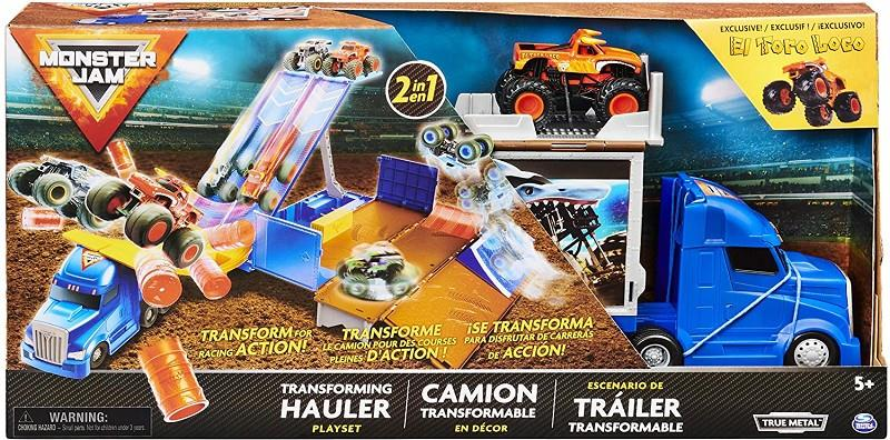 spin master 6058258 monster jam camion trasformabile 2in1