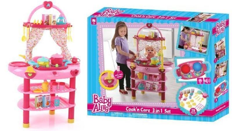 hasbro baby alive cucina / bagnetto 3 in 1