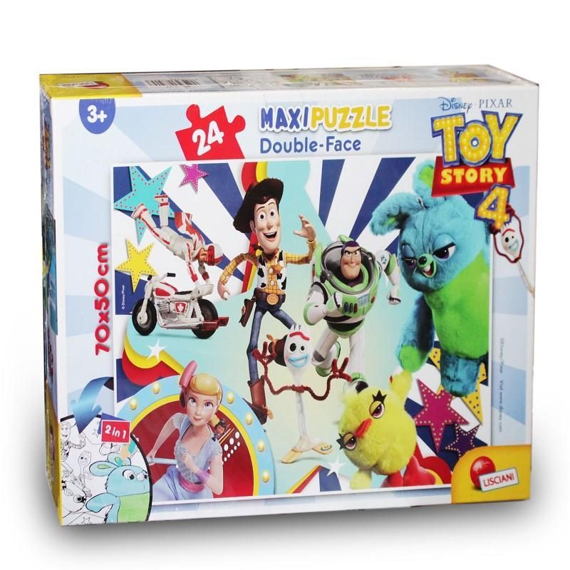lisciani 75157 toy story puzzle maxi double face 24 pz