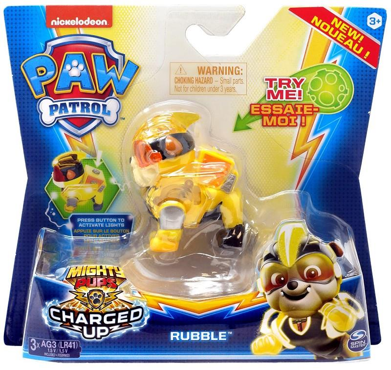 paw patrol mighty pups charged up con luci assortiti