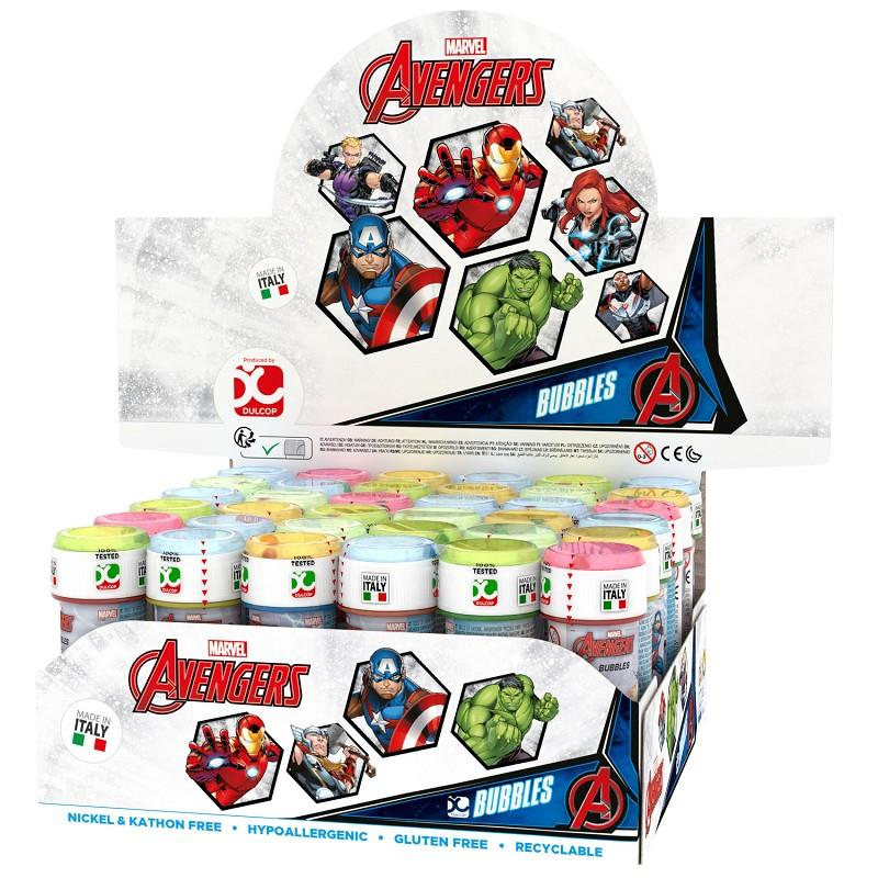 avengers bolle di sapone dulcop made in italy