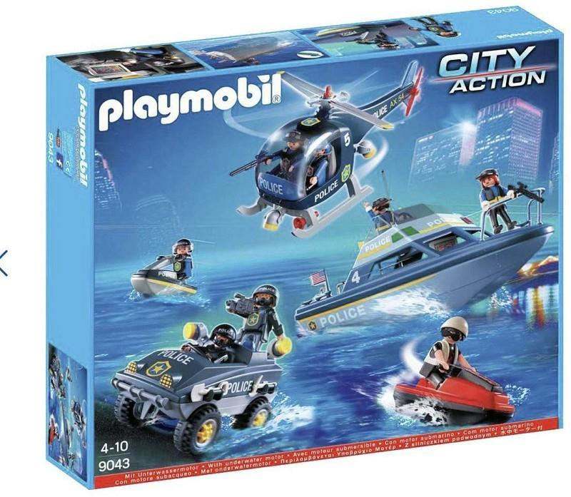 giocheria pos190156 playmobil city action set polizia 9043