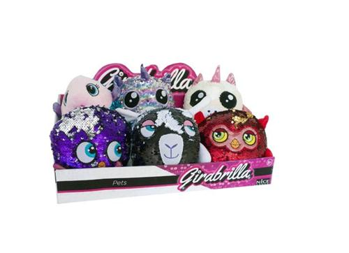 NICE GROUP PELUCHE ANIMALI GIRABRILLA PETS PELUCHE ANIMALI ASS.