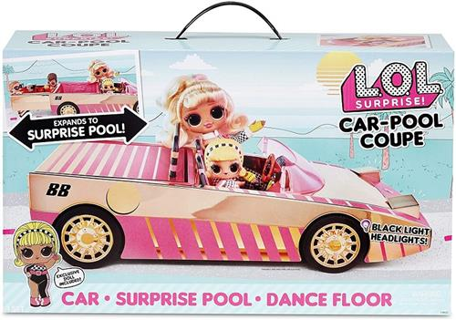 MGA ENTERTAINMENT BAMBOLE AUTO LOL SURPRISE AUTO TRASFORMABILE + BAMBOLA