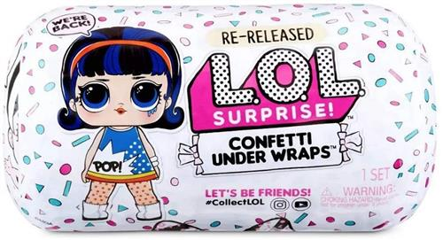 MGA ENTERTAINMENT BAMBOLE BAMBOLE L.O.L SURPRISE CONFETTI UNDER WRAPS NEW