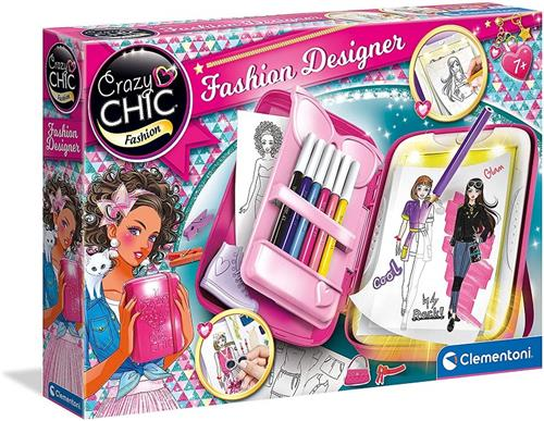 CLEMENTONI GIOCHI EDUCATIVI GIOCHI CREATIVI CRAZY CHIC FASHION DESIGNER