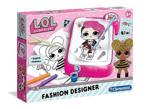 CLEMENTONI GIOCHI EDUCATIVI GIOCHI CREATIVI L.O.L. SURPRISE FASHION DESIGNER TAVOLO