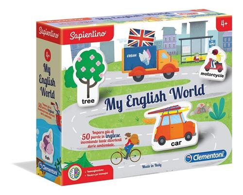 CLEMENTONI GIOCHI EDUCATIVI GIOCHI EDUCATIVI SAPIENTINO MY ENGLISH WORLD CLEM.