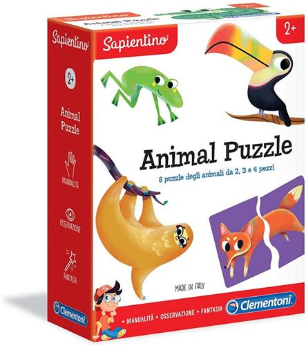 CLEMENTONI GIOCHI EDUCATIVI GIOCHI EDUCATIVI SAPIENTINO ANIMAL PUZZLE NEW CLEMENTONI