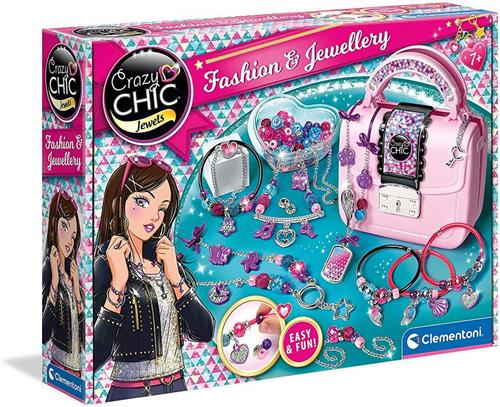 CLEMENTONI GIOCHI CREATIVI GIOCHI CREATIVI CRAZY CHIC FASHION & JEWELLERY CLEMENTONI 18598