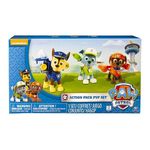 SPIN MASTER GIOCATTOLI PERSONAGGI PAW PATROL ACTION PACK CONF. 3 PERS.