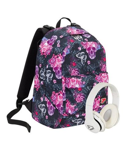 SEVEN SCOLASTICA ZAINI SCOLASTICI SEVEN ZAINO BACKPACK REVERSIBILE QUEENCROWN GIRL