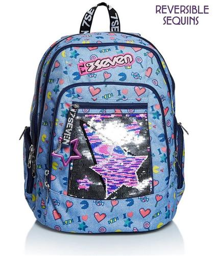 SEVEN SCOLASTICA ZAINI SCOLASTICI ZAINO ADVANCED SEVEN STARRY RAINBOW ASS.