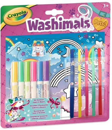 CRAYOLA GIOCHI CREATIVI GIOCHI CREATIVI WASHIMALS SET ACCESSORI COLORA & DECORA