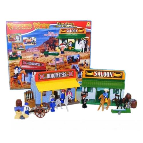 TOYS GARDEN GIOCATTOLI PLAY SET SALOON E FORTINO FAR WEST 25823 T.GARDEN