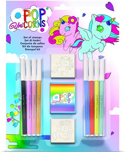 MULTIPRINT GIOCHI CREATIVI GIOCHI CREATIVI POP UNICORNS BLISTER TIMBRI E PENNAR. MULTIPRINT