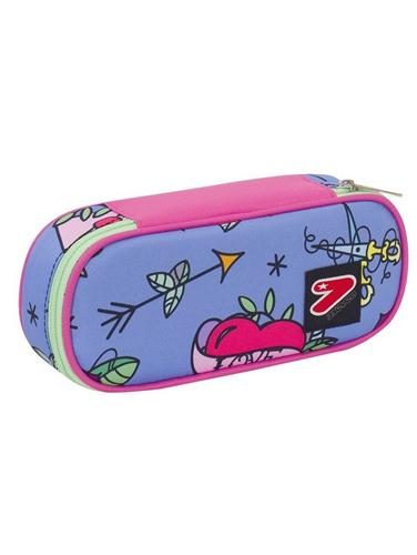 SEVEN SCOLASTICA ASTUCCI SEVEN PENCIL BAG ROUND PLUS SWALLOW