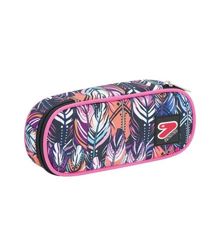 SEVEN SCOLASTICA ASTUCCI SEVEN PENCIL BAG ROUND PLUS PLUME