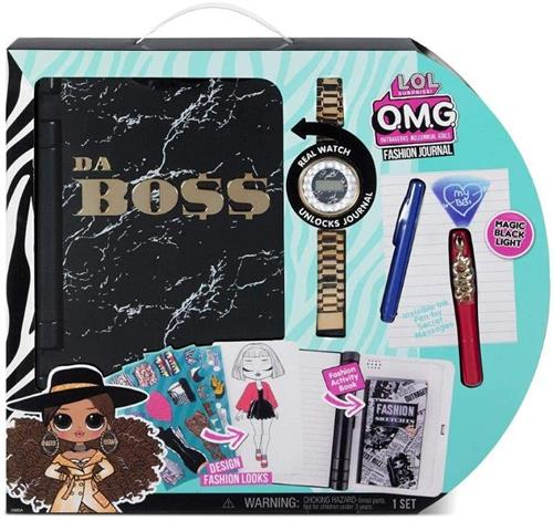MGA ENTERTAINMENT GIOCATTOLI ACCESSORI DI BELLEZZA LOL SURPRISE DIARIO ALLA MODA + OROLOGIO