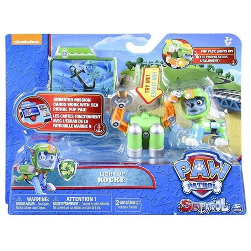 SPIN MASTER GIOCATTOLI PERSONAGGI PAW PATROL PERS. LIGHT UP ROCKY