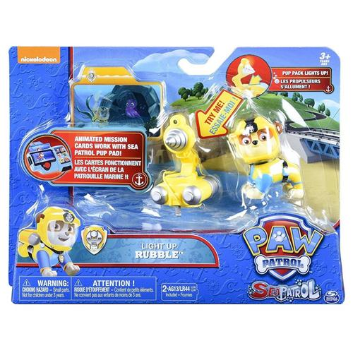 SPIN MASTER GIOCATTOLI PERSONAGGI PAW PATROL PERS. LIGHT UP RUBBLE