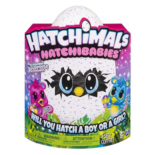 SPIN MASTER GIOCATTOLI ANIMALI INTERATTIVI HATCHIMALS HATCHIBABIES M/F SURPRISE