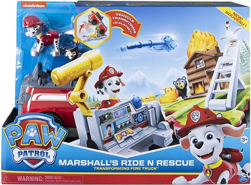 SPIN MASTER GIOCATTOLI PERSONAGGI PAW PATROL MARSHALL CAMION PLAYSET + PERS.