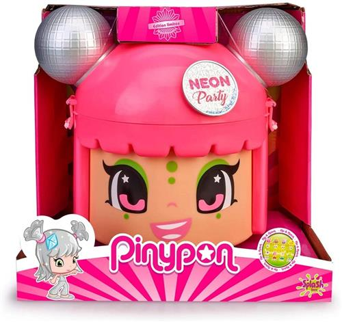 FAMOSA BAMBOLE BAMBOLE PINYPON NEON PARTY TESTA 5 DOLL INCLUSE