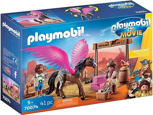 PLAYMOBIL GIOCATTOLI GIOCHI DA TERRA E TAVOLO PLAYMOBIL THE MOVIE 70074 MARLA CAVALLO ALATO