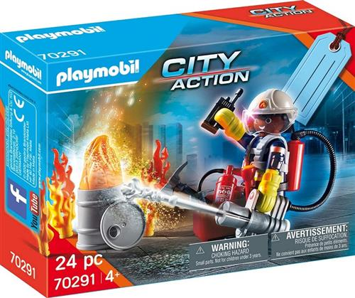 PLAYMATES GIOCATTOLI PERSONAGGI PLAYMOBIL CITY ACTION POMPIERI 70291