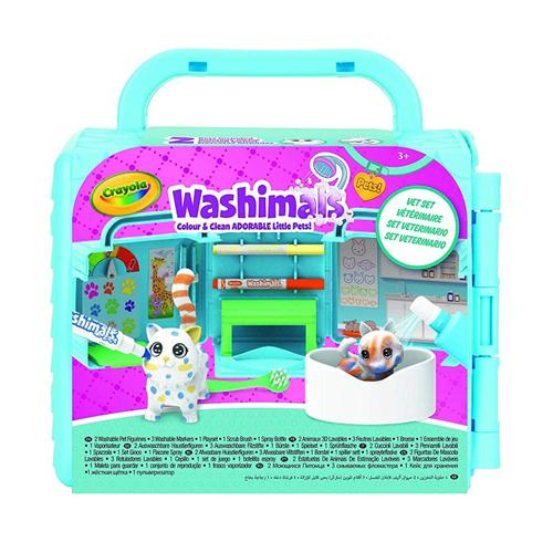 CRAYOLA GIOCHI EDUCATIVI GIOCHI CREATIVI WASHIMALS SET VETERINARIO CRAYOLA