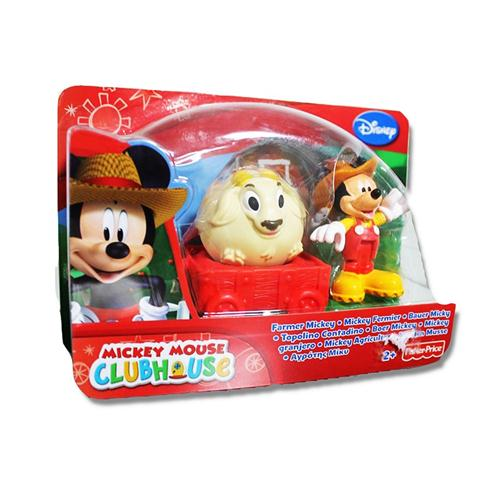 FISHER PRICE GIOCATTOLI PERSONAGGI MICKEY MOUSE  BLISTER ASS.  CONTADINO