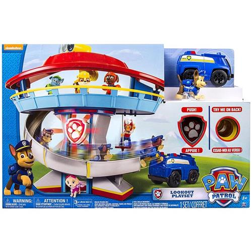 SPIN MASTER GIOCATTOLI PERSONAGGI PAW PATROL QUARTIER GENERALE LOOKOUT PLAYSET