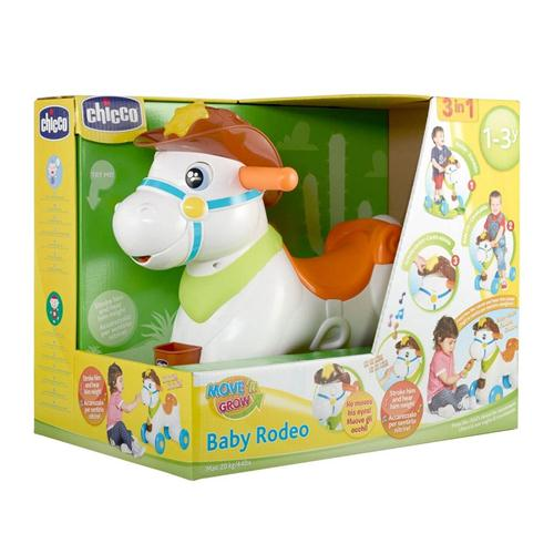 CHICCO PRIMA INFANZIA CAVALCABILE CHICCO BABY RODEO 3IN1 NEW
