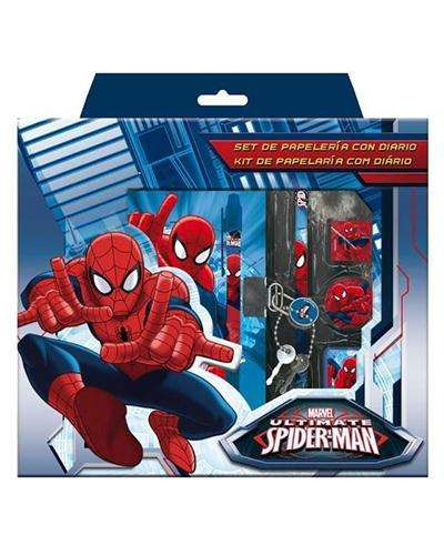 ASTRO GIOCATTOLI DIARI SPIDERMAN SET DIARIO+ACCESSORI
